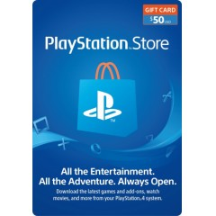 $50 PlayStation Store Gift Card - PS3/ PS4/ PS Vita