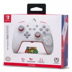 Control Wired Switch (White Mario Silhouette)